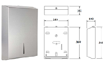S-124 Interleaved Paper Towel Dispenser from Star Washroom