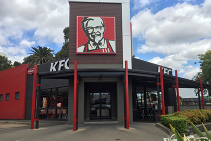 Sublimated Timber-Look Aluminium Cladding for KFC from DECO