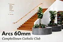 Arcs 60mm for Campbelltown Catholic Club by 3D Wall Panels