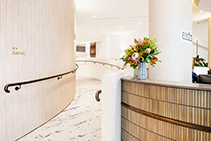 Curved Vertical Textured Wall Panels by Screenwood