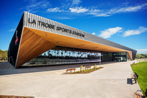 Aluminium Louvres for La Trobe Stadium from Safetyline Jalousie
