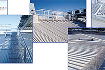 Aluminium Walkways for Industrial Rooftops by JOMY