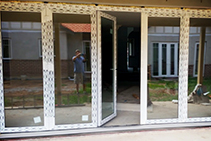 Internal uPVC Bifold Doors for Tiny Living from Wilkins Windows