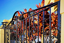Simple Custom Wrought Iron Gates by AWIS