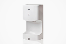 Mini Hand Dryers in White by Verde Solutions