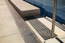 Drainage with Anti-Slip Grates for Blacktown Tennis Centre by ACO