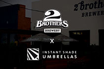 Promotional Umbrellas for Brewery by Instant Shade Umbrellas