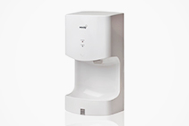 Mini Hand Dryers in White from Verde Solutions