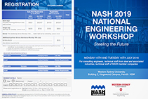 2019 National Engineering Workshop - Register Now with NASH