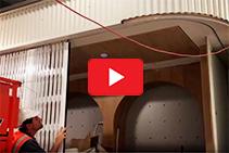 S08 Curved Trellis Security Door in Action from Trellis Door Co