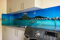 Custom Printed Laundry Splashbacks by Innovative Splashbacks