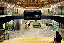 Woven MAXI BEAM Ceiling for Urban Office by SUPAWOOD