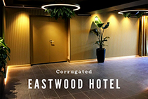 Corrugated Wall Panels for Eastwood Hotel from 3D Wall Panels