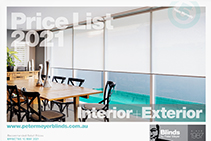 2021 Interior & Exterior Blinds from Blinds by Peter Meyer