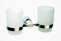 Sapphire Dual Glass Tumblers & Holder from Tilo Tapware