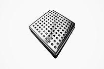 Stainless-Steel Square Floor Wastes from Vincent Buda & Co