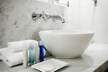 Gioia Venatino Carrara Marble Hotel Bathroom by RMS Marble
