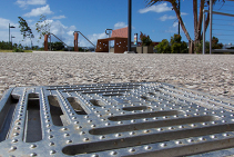 Stainless Steel Slip Proof Roof and Floor Drains from EJ