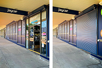 Security Shutters for Jaycar Electronics Stores from Trellis Door Co