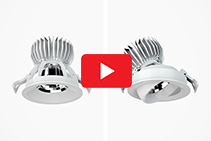 Versatile Luminaires - DOT Adjustable Downlights from Pierlite