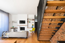 Thick Cut Chestnut Residential Stairs by S and A Stairs