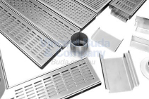 Aqualuna Stainless Steel Bathroom Grates from Vincent Buda