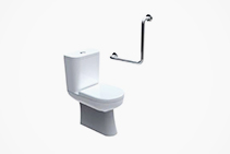 90° Toilet Grab Rails from Axess Trading