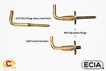 Custom Shaped Handrail Brackets from ECIA