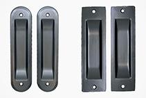Sliding Door Flush Pulls - New Black Finish from Cowdroy