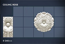 245mm Floral Ceiling Roses - 21 by CHAD Group