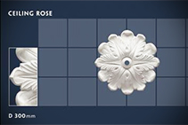 300mm Floral Ceiling Roses - 24 by CHAD Group