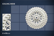 470mm Floral Ceiling Roses - 15 by CHAD Group