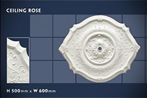 500 x 600mm Floral Ceiling Roses - 04 by CHAD Group