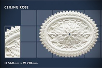 560 x 710mm Floral Ceiling Roses - 05 by CHAD Group