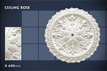 600mm Floral Ceiling Roses - 06 by CHAD Group