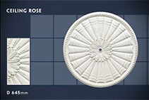 645mm Floral Ceiling Roses - 38 by CHAD Group