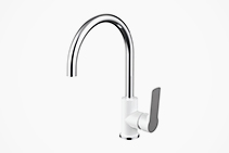 Gemstone Sink Mixers in White or Chrome from Tilo Tapware
