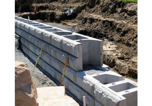 Interlocking Block Retaining Wall System Concrib Richlands Qld 4077