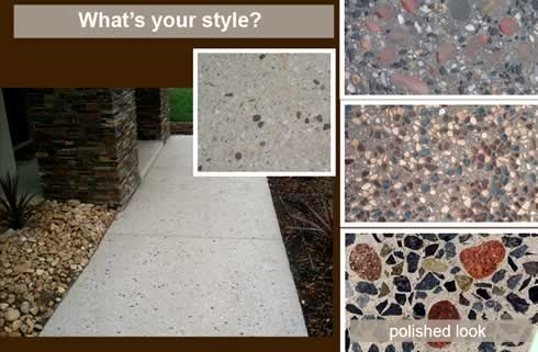 Seeded Exposed Aggregate Decorative Concrete For Flooring