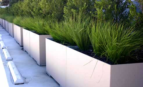 Lightweight concrete planter boxes by mascot engineering for Diy reinforced concrete