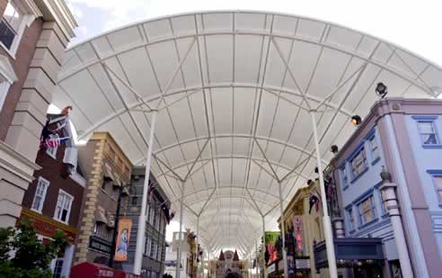 Tensile Membrane Roofing By Makmax Australia At Movie World