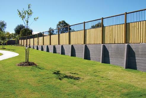 Concrete Sleeper Retaining Walls Queensland Concrib