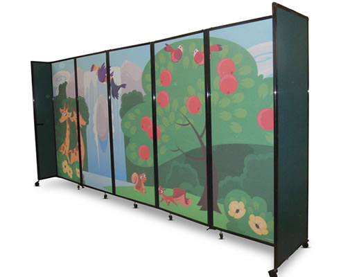 Custom Acoustic Room Dividers From Portable Partitions Customised Childrens Partition