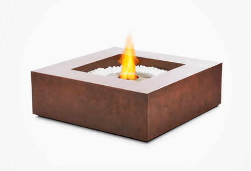 Base multi function coffee table and fire pit ecosmart fire for Concreteworks fire table