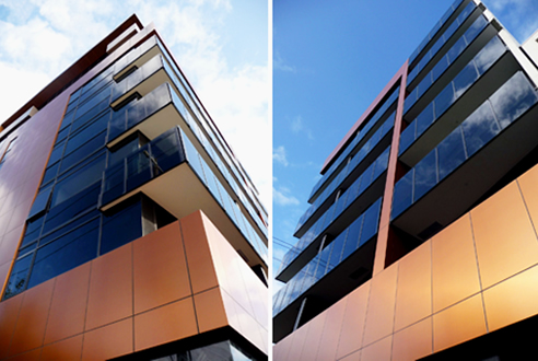 Alucobond Natural Copper Cladding