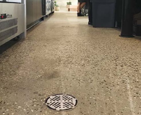 Commercial Polished Concrete Floor Drainage System by ACO