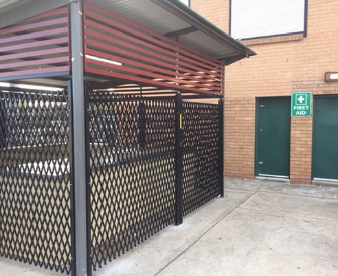 Double Diamond Concertina Security Shutters from Trellis Door Co