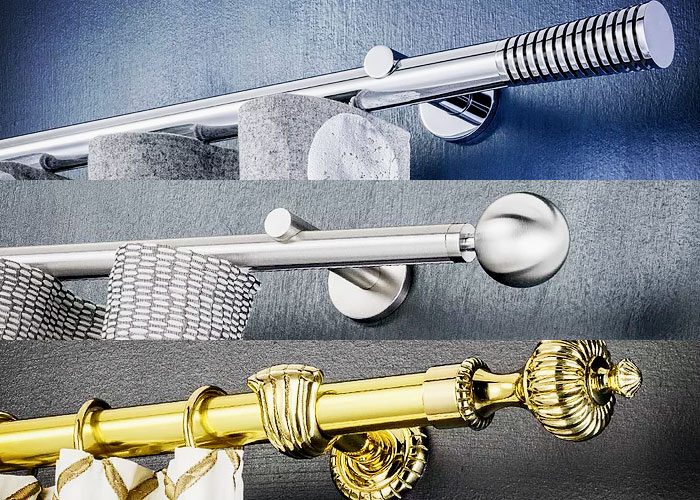 Busche Decorative Curtain Rods from Forest Drapery Hardware