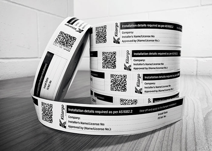 IFD Installation Labels for Fire Dampers from Kilargo