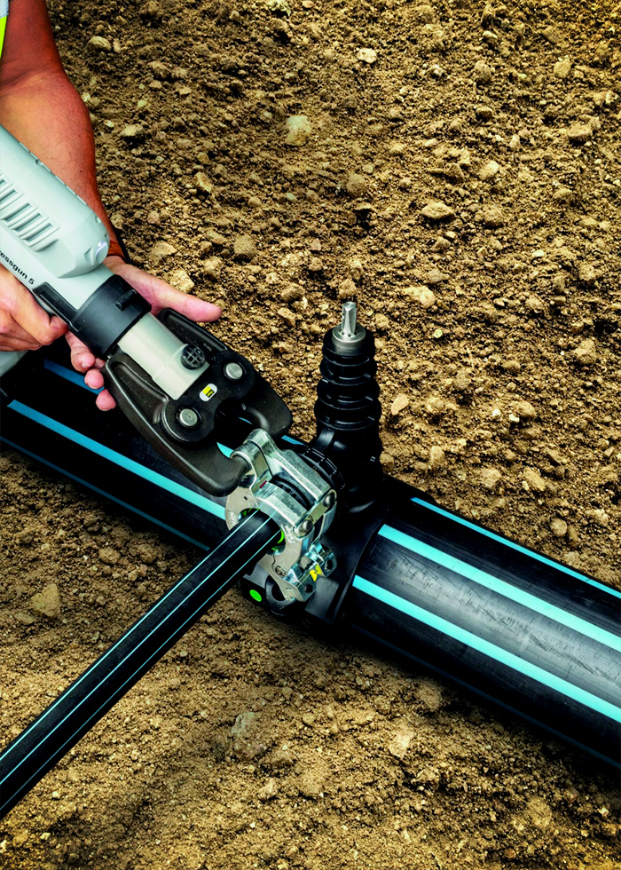 Press Connection HDPE Underground Pipe Installations with Viega